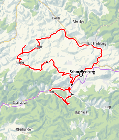 Karte / Bauernland-Radroute