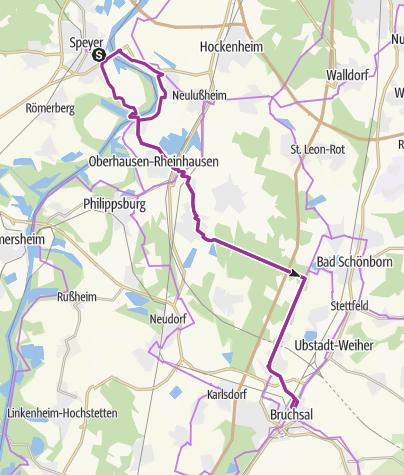 Karte / Schönbornroute (Speyer-Bruchsal)