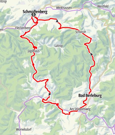 Karte / Rothaar-Radroute