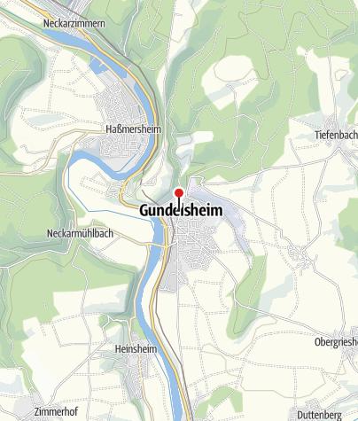 Karte / Deutschordensstadt Gundelsheim
