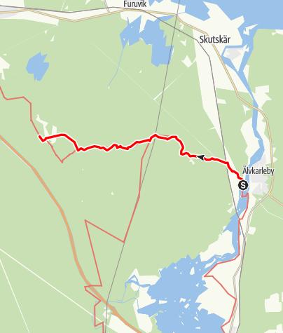 Karta / Helgonleden, Älvkarleby till Mårtsbo