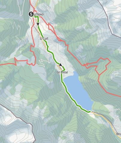 Karte / Poschiavo – giro del lago – Le Prese, sentiero basso