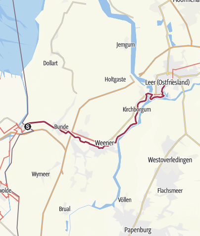 Karte / Ems-Dollart-Pad/Emsweg