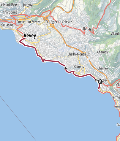 Map / Von Montreux nach Vevey