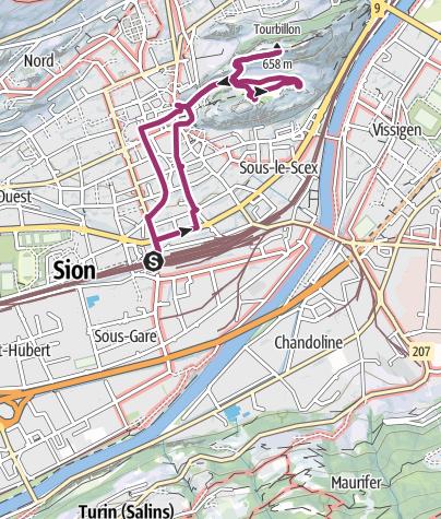 Carte / Sion Stadtwanderung