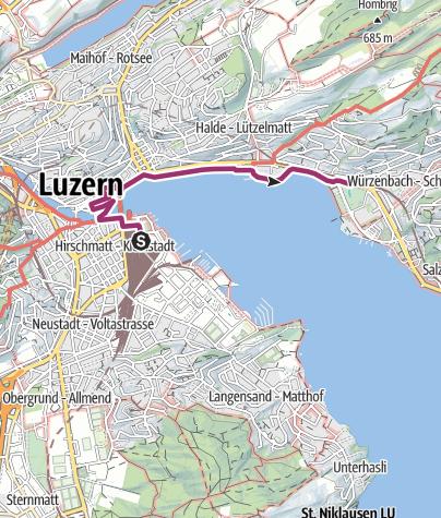 Karte / Luzern Stadtwanderung