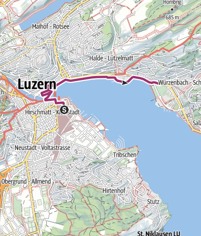 Map / Luzern Stadtwanderung