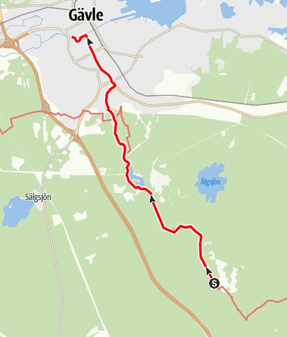 Karta / Helgonleden, Mårtsbo till Gävle