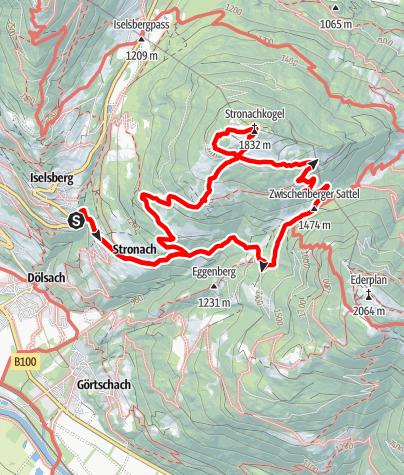 Kaart / Stronachkogel 1831m