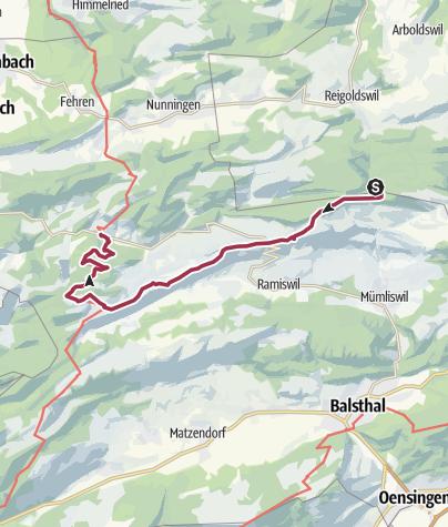 Karte / Höhenwanderung im Solothurner Jura