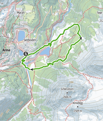 Karte / Furggaalp - Grünseeli