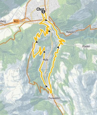 Karte / 255: Brambrüesch-Tour