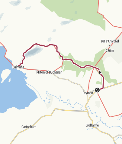 Map / Drymen to Balmaha