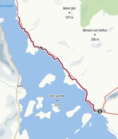 Map / Balmaha to Rowardennan