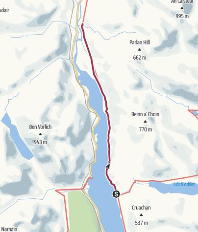 Map / Inversnaid to Inverarnan