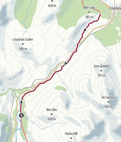 Map / Inverarnan to Crianlarich