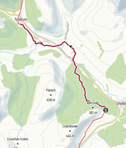 Map / Crianlarich to Tyndrum