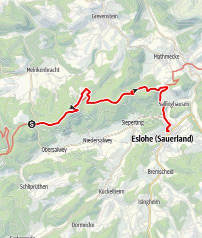 """Map / Wandertaxi """"Höhenflug"""": Vom Birkenbrauck nach Eslohe"""