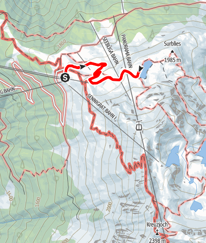 Kaart / Zum Seebligasee