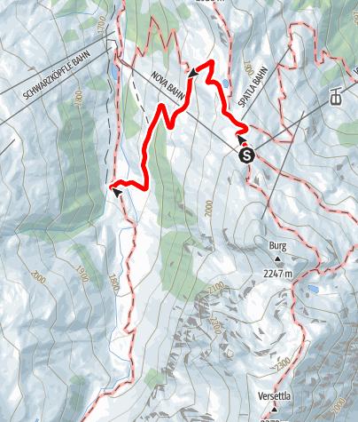 Karte / Alpwanderung Nova