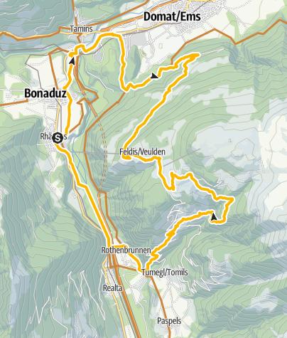 Karte / Feldis Rundtour