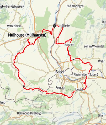 Karte / Interregio - Wanderweg