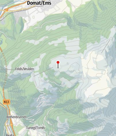 Cartina / Berghütte Alp Raguta