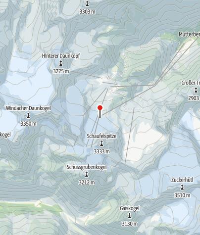 Mapa / V10: Eisgrat Bergstation