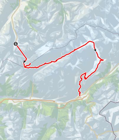 Kaart / Aletsch Konkordia gletsjertocht