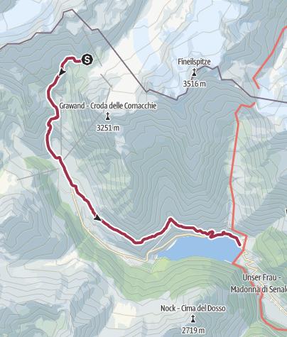 Map / Bellavista Hütte ins Meraner Land