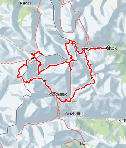 Kaart / Rondom de Monte Viso