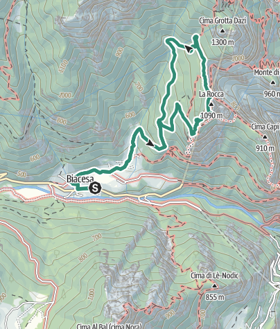 Map / Cima Rocca