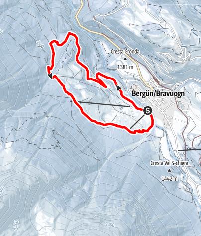 Map / 526 Bergünerstein Snowshoe Trail