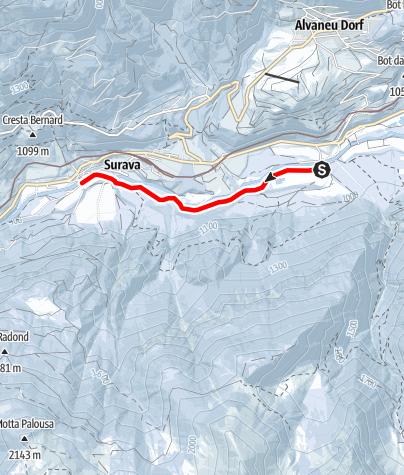 Karte / Skateline Albula