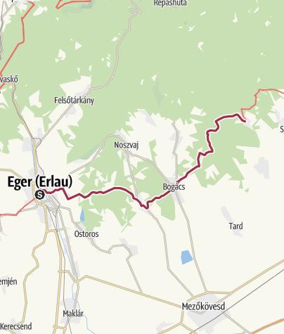 Mapa / Mária Út (M01-es útvonal: Eger-Kács)