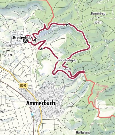 Karte / Früchtetrauf | Schönbuchspitzrunde