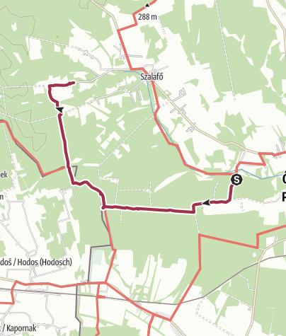 Karte / Keserűszer - Pityerszer a magyar-szlovén határ mentén