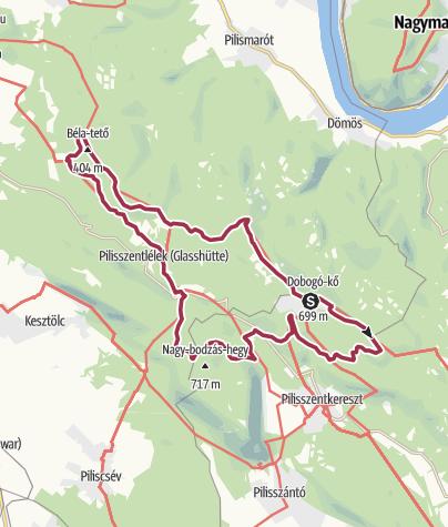 Térkép / Halálos helynevek nyomában a Pilisben