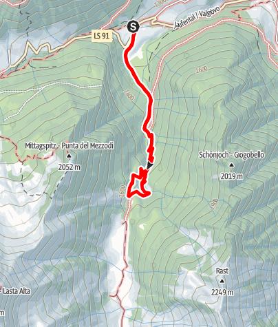 Map / The Gurgl cascade