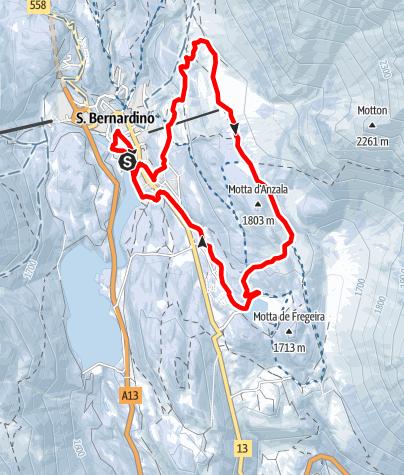 Karte / Sanbe Snow Run