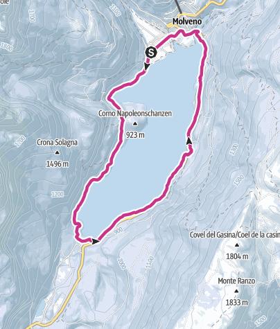 Cartina / Giro del lago di Molveno