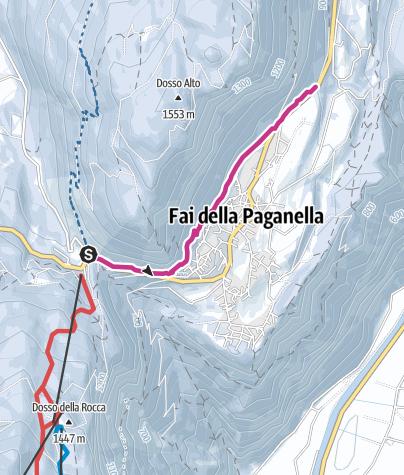 Cartina / Fai della Paganella - Sentiero Alberto Ardito