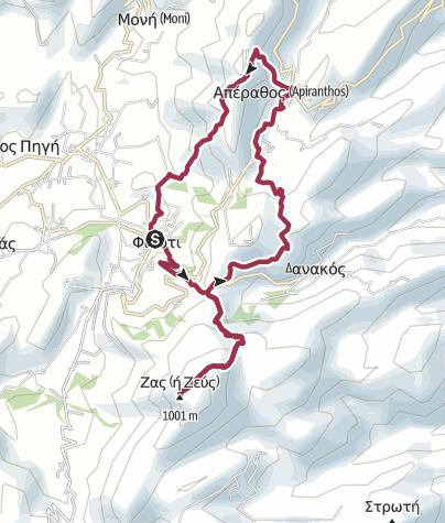 Map / Filoti Loop Walk via Mount Zas