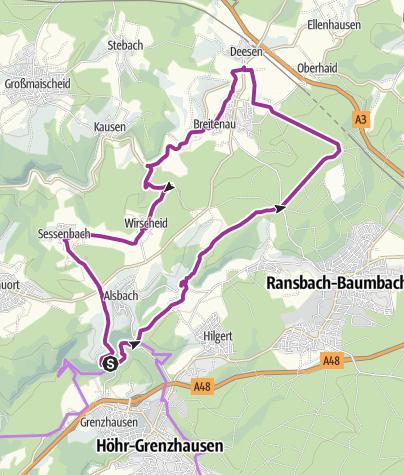 Map / Bäche-Tour im Kannenbäckerland (XIII)