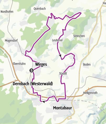 Karte / Aubach-Tour (XVII)