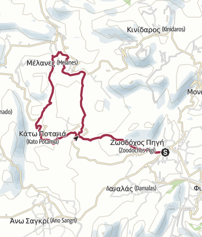 Kaart / Chalki to Melanes