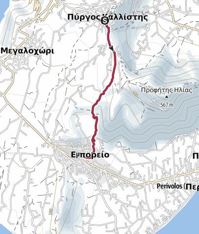Kaart / Pyrgos to Emporio