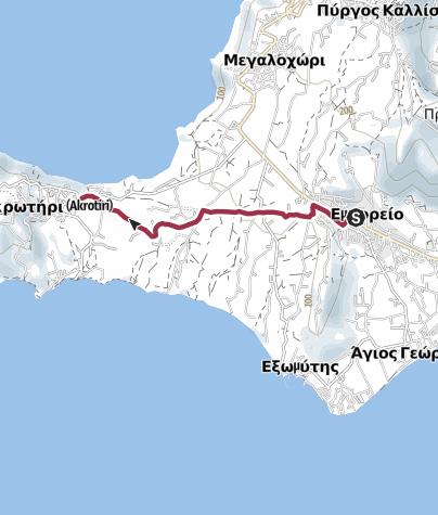Kaart / Emporio to Akrotiri