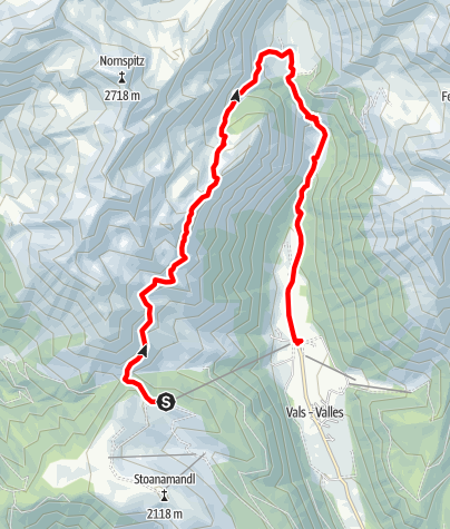 Map / High altitude hiking trail Rotenstein