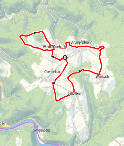 Karte / Karl Drais-Radweg